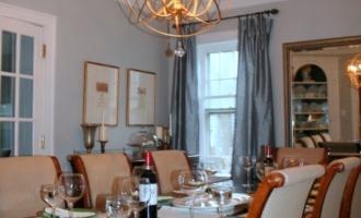 Dining Room Chandelier Update