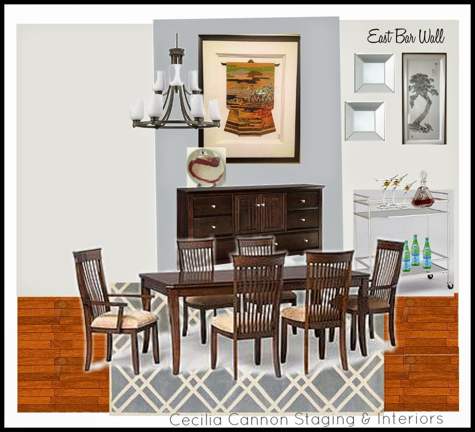 Feature Friday // Dining Room Bar Cart - Home with Keki