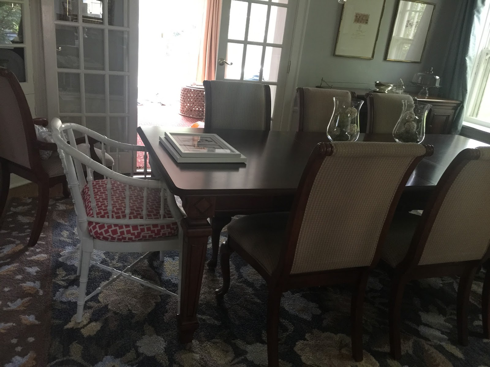 faux bamboo dining room chairs home with keki and i was able to sell all 6 of these chairs on a virtual garage sale site so i could place my new chairs here they are in their new home but