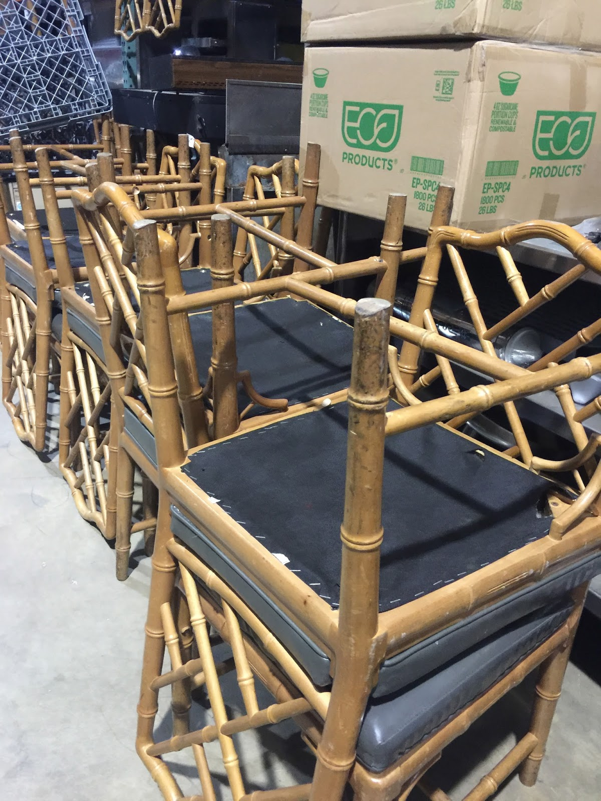 faux bamboo dining room chairs home with keki i got to sit in over 20 of them picking out 8 chairs that had not damage and were 100 sturdy of course i placed my babies gently into the van