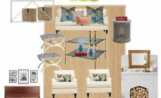 Casual Vintage Coastal Living Room