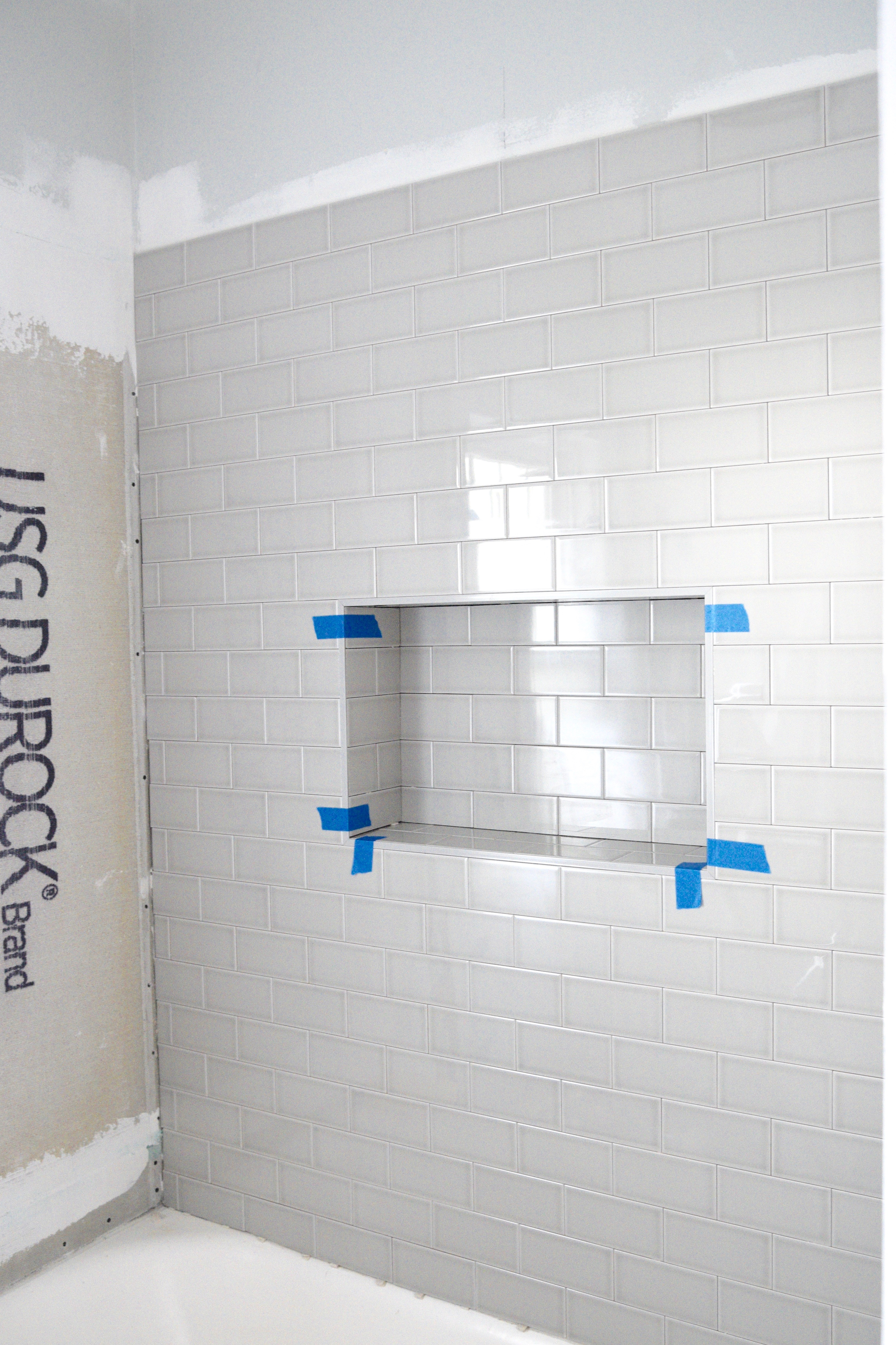 Install bathroom tile