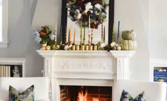 Thanksgiving Tablscape &  Mantel