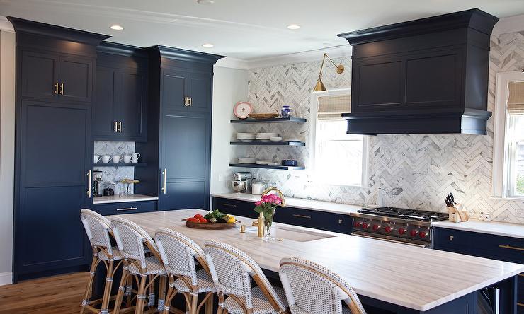 Benjamin Moore Hale Navy kitchen cabinets homewithkeki.com