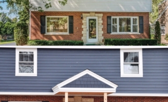 Picking Blue Exterior Siding with a Red Brick Home