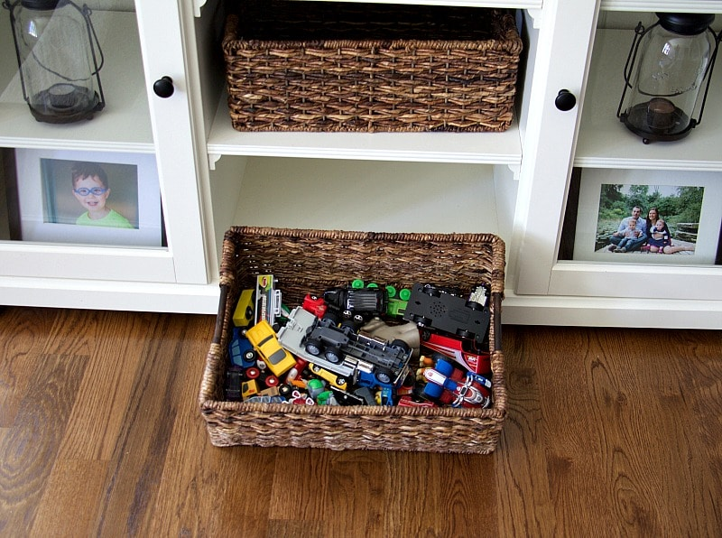 clever tips to organize all the kids toys so they don't takeover your family room or space. to find out more head over to www.homewithkeki.com #organization #tips #kids