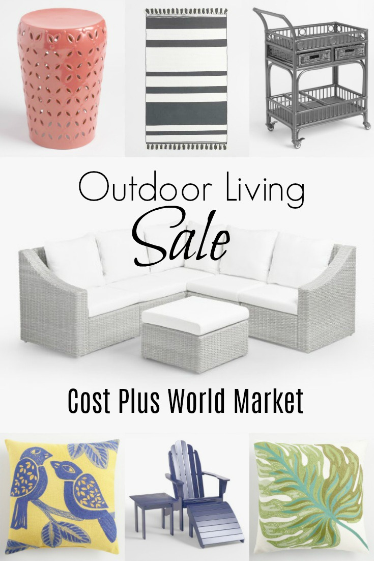 Outdoor furniture sale memorial weekend to decorate the patio, deck or backyard all styles on sale see more at www.homewithkeki.com #ad #sponsored with @costplusworldmarket