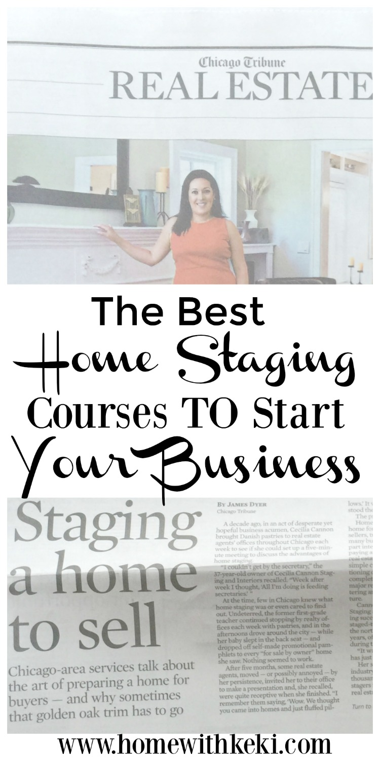 My top 3 homes staging courses or certification programs to start your own home staging business #homestaging #stagingtips for more visit www.homewithkeki.com