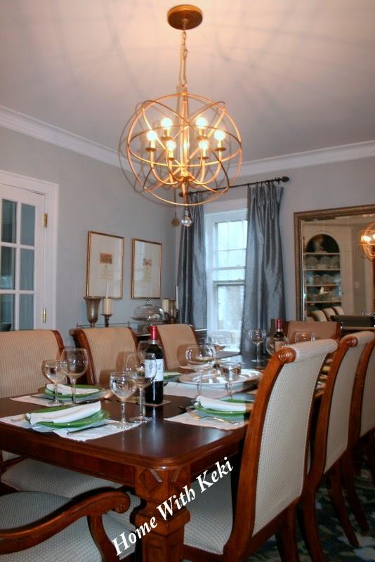 large orb chandelier in gold ballard designs 399 - Orb Chandelier Dining Room
