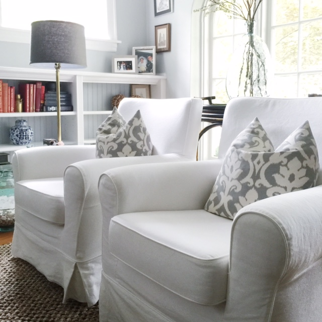 Slipcover Furniture In The Living Room Home With Keki