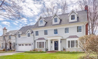 Feature Friday // Painting Exterior of Home Gray 132 Tudor Pl, Kenilworth