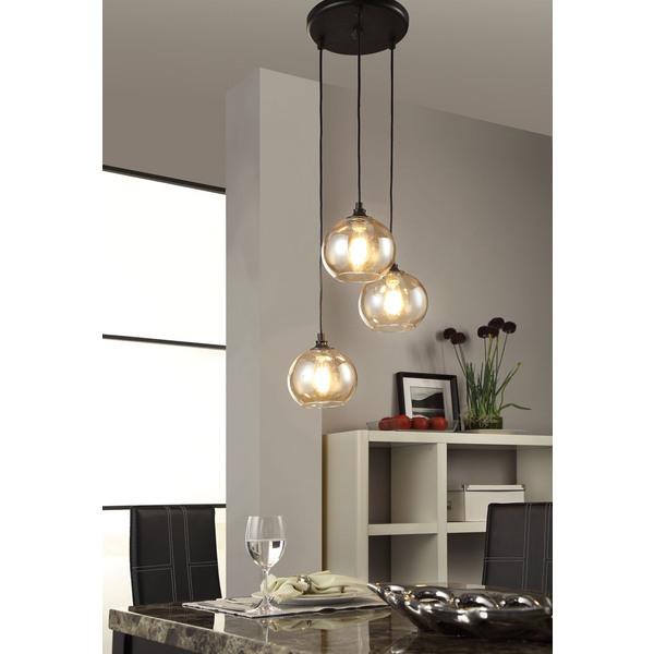 Westmenlights 3 Round Globe Pendant Light Amber Glass West Elm Jar Chandelier