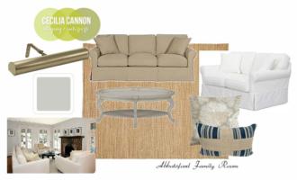 Nantucket Style Family Room