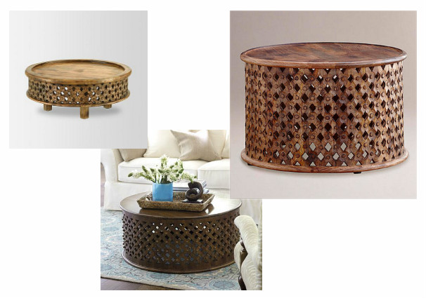 Carved Wood Tribal Coffee Tables