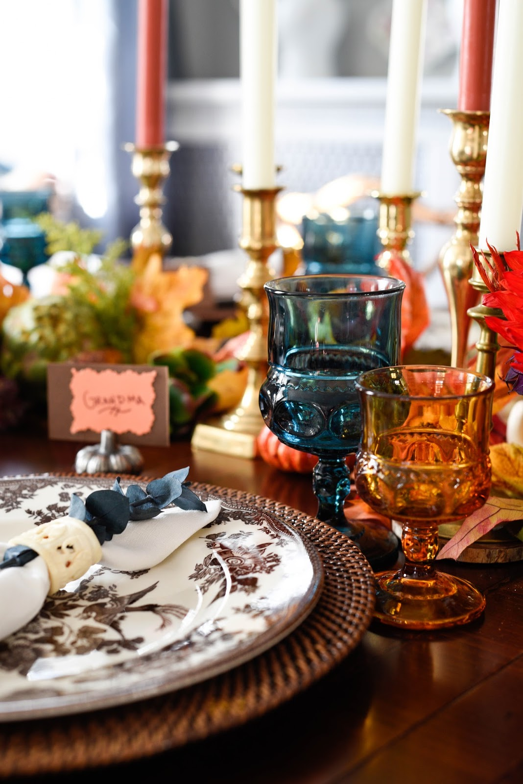 Vintage Inspired Thanksgiving Tablescape Home With Keki