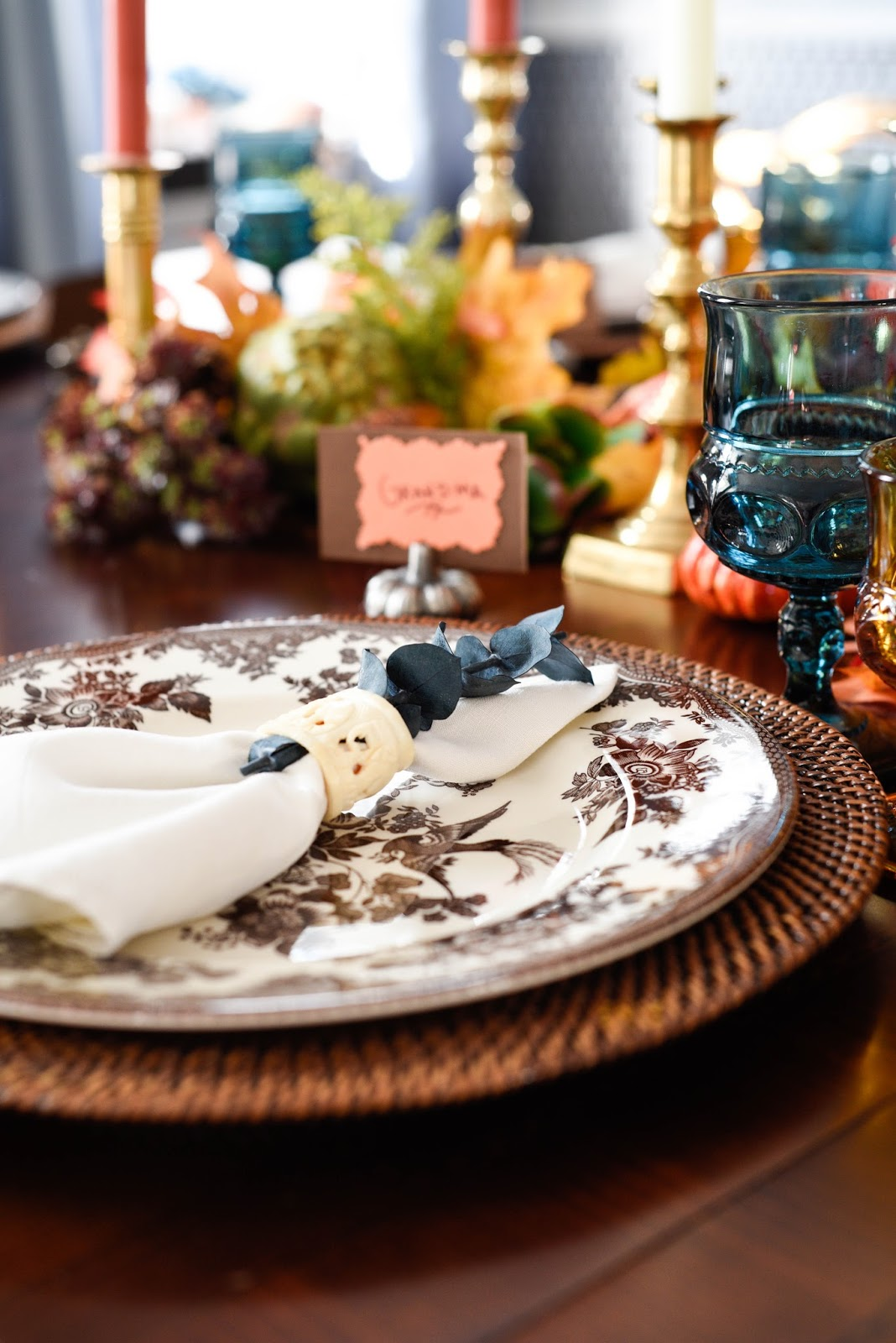 Vintage inspired thanksgiving tablescape home with keki for Table 52 2015