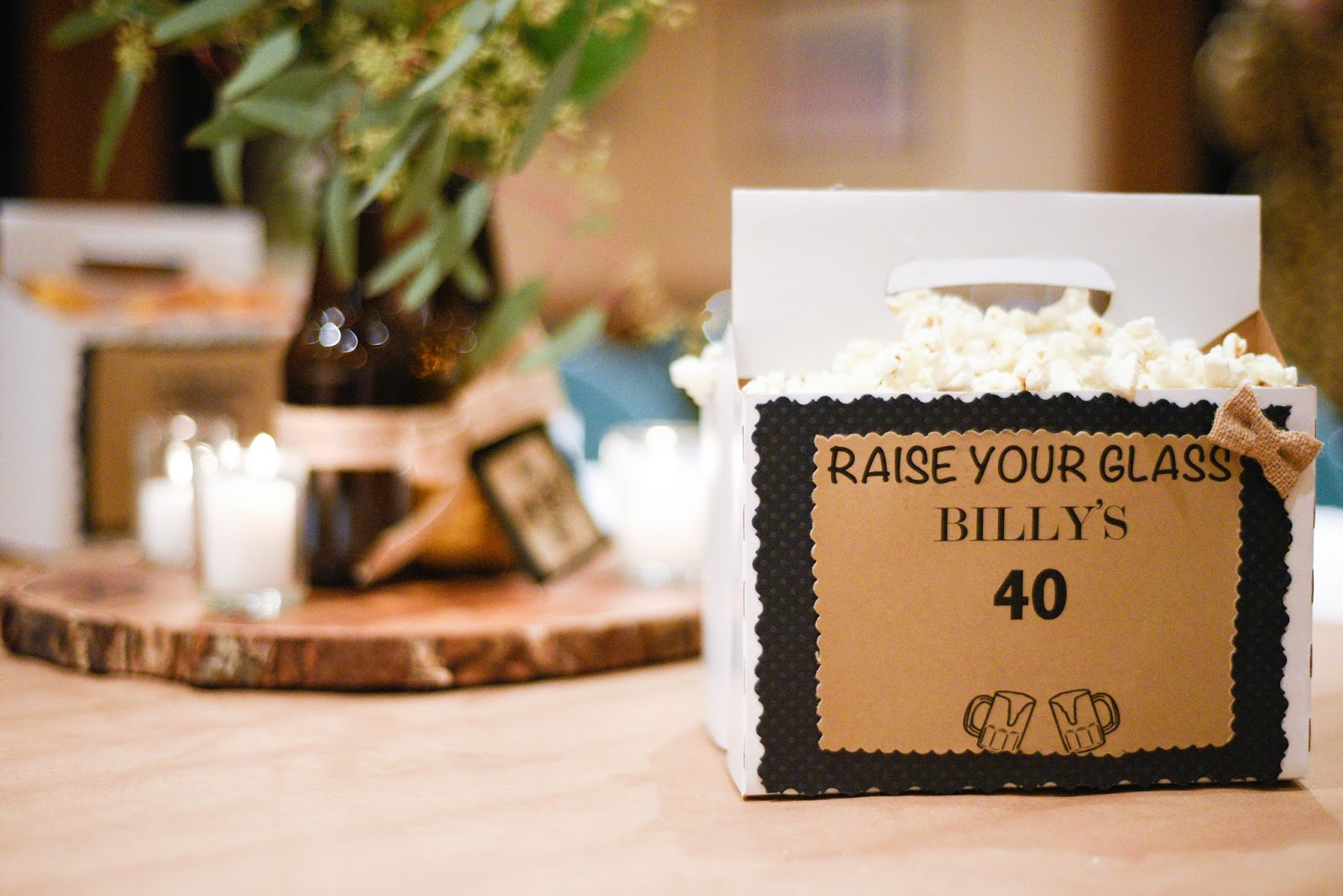 40th birthday party ideas for him - home with keki