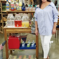 how to style outdoor summer bar carts www.homewithkeki.com