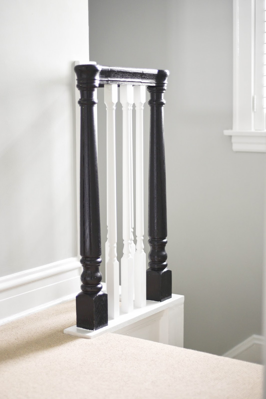 Updating Older Staircases, Painting Staircase Banisters Black With White  Spindles, #DIY #oldhomes