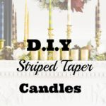 D.I.Y Striped Candle Tapers