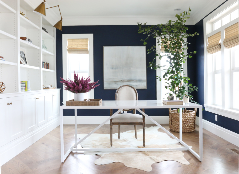 Benjamin Moore Hale Navy Home office Studio Mcgee