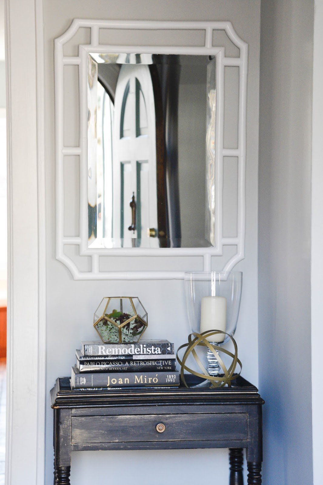 white foyer table. How To Style A Foyer Table And Using White Mirror In Www.homewithkeki
