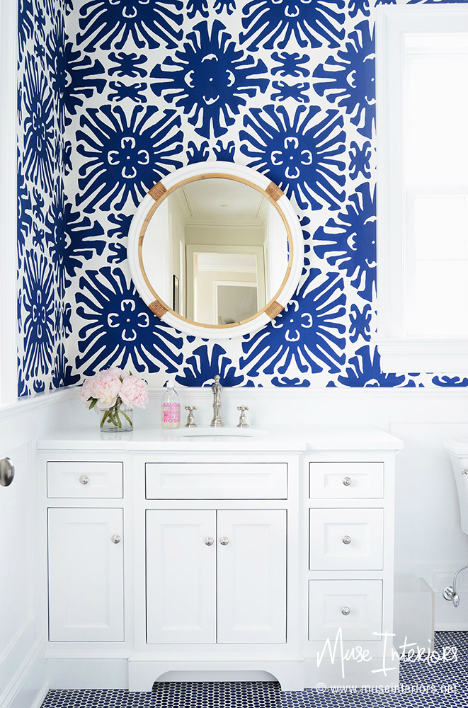 Powder Room wallpaper ideas www.homewithkeki.com