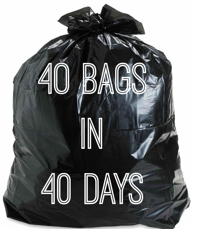 40 trash bags in 40 days to declutter your life and home for more tips go to www.homewithkeki.com #organized #tips #declutter