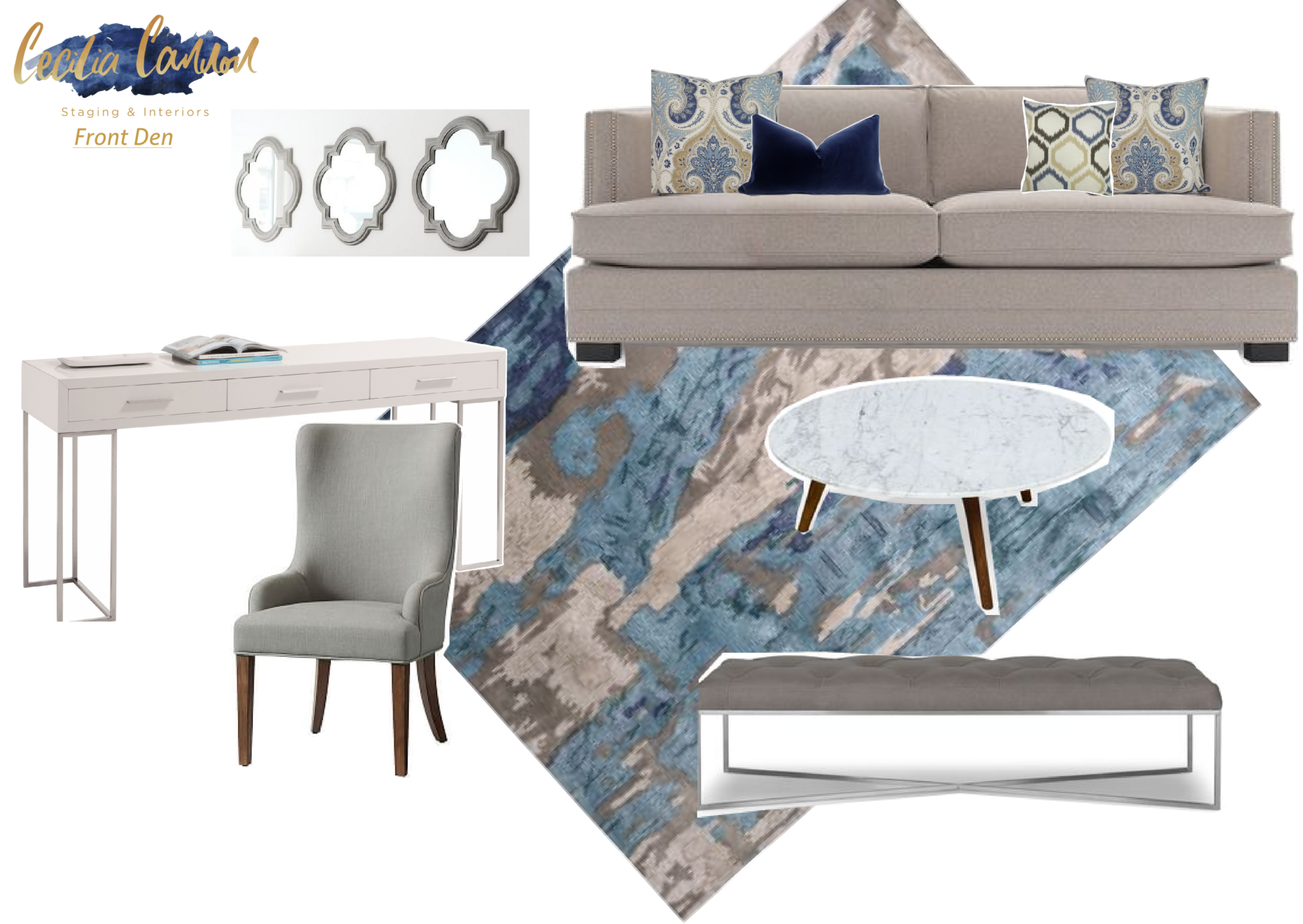 Becoming wayfair homemaker and designing client spaces with products from All Modern and wayfair, like this den. see more at www.homewithkeki.com #interiors #wayfair #design