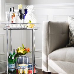 Simple and quick go to tips to styling a bar cart for any party for any space with a little help from wayfair. Visit www.homewithkeki.com for tips. #barcarts #designtips #interiordesignblogger #ad