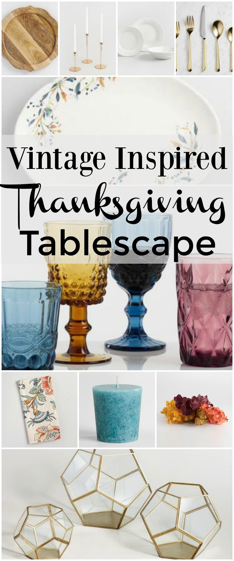 Create a memorable vintage inspired thanksgiving tablescape for your friends and family with a little help from Cost Plus World Market, for more tips visit www.homewithkeki.com #ad #worldmarkettribe #thanksgiving #tablescapes