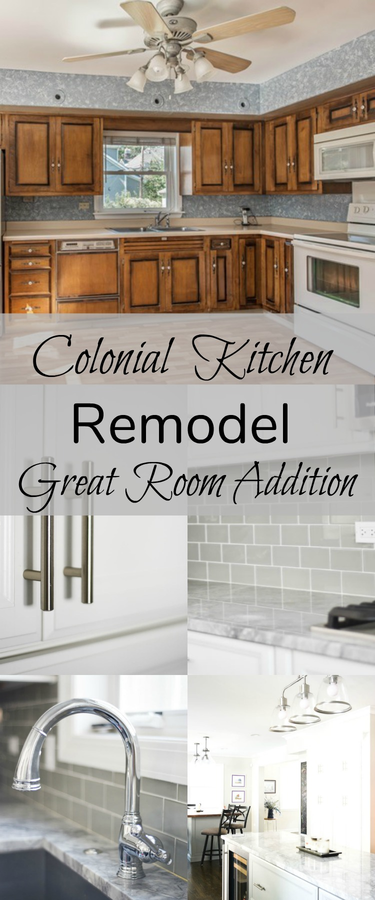 Colonial Kitchen and Great Room Remodel- Home with Keki