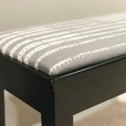 How to reupholster piano benches, benches or chairs. Quick and easy video with my insider secret, for more visit www.homewithkeki.com #diy #reupholster #howto #video