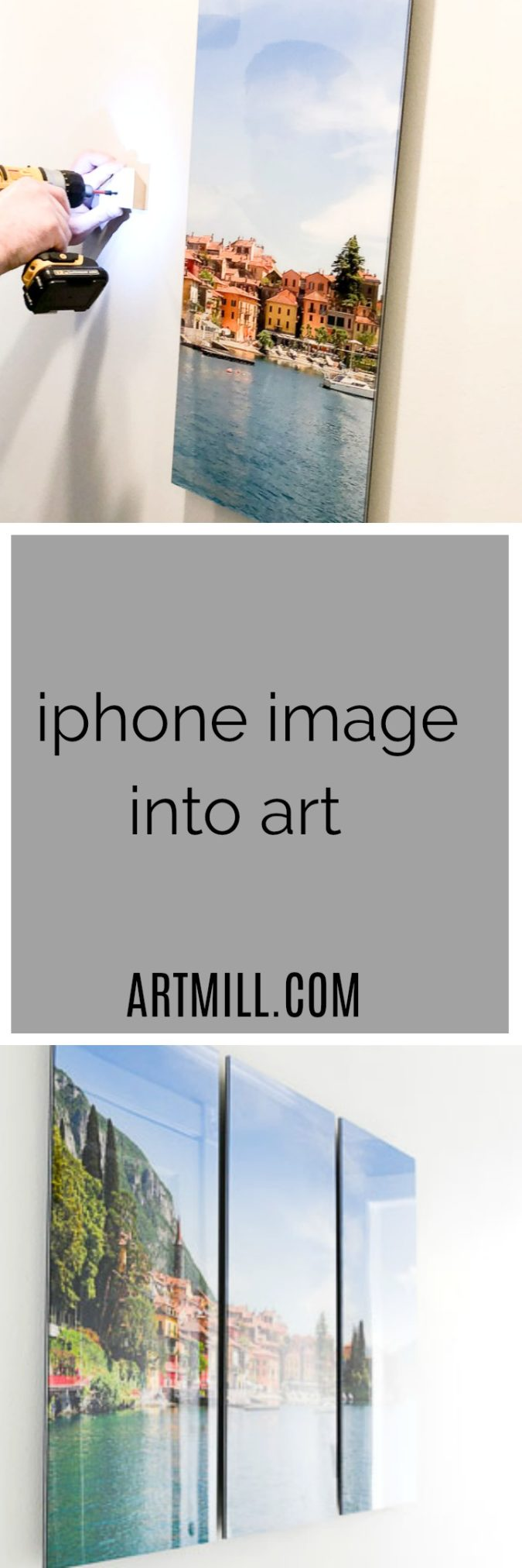 Great online shop, Artmill, will take your photos and turn them into pieces of art, great pricing and easy install, for more visit www.homewithkeki.com #iphonephotos #gallerywalls #designtips