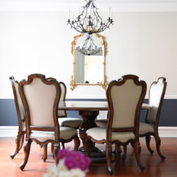 Dining Room decor, using Hale Navy Benjamin moore and pale Oak for more visit www.homewithkeki.com #diningroom #benjaminmoore