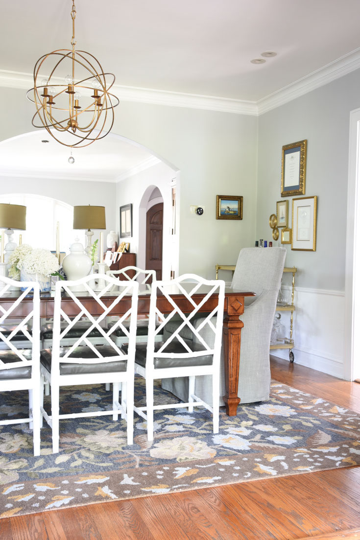 White Bamboo Dining Chairs